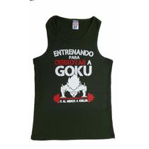 Playeras Gym Goku Entrenando Olimpica