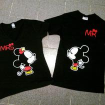 Playera Mickeys Parejas Camisas De Novios Personalizadas