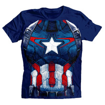 Playera Civil War Team Capitan America Marvel Original Armor