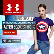 Under Armour Alter Ego Blusa Cap. America. Deportes/casual