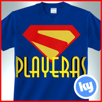 Playeras Super Héroes Logos Comics Marvel Dc Serigrafía