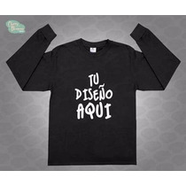 Oferta Playeras Manga Larga Personalizadas Camisetas Algodon
