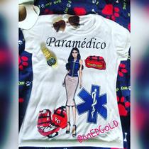 Playera Paramedica, Dama Ems (sublimacion) Profesional