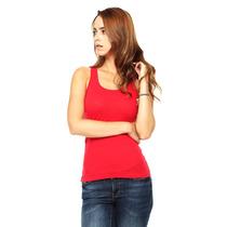 Anna Flynn - Tank Top Con Encaje En Espalda - Rojo - 3374