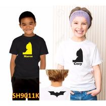 Playera Niño Y Niña Batman Personalizada Sh9011k