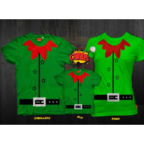 Playeras Para Navidad, Duende, Santa, Reno, Navidad 24 Dicie