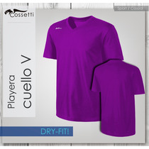Playera Cuello En V, Original Dry-fit! Casual O Sport