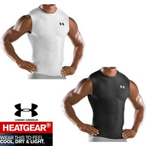 Playera Under Armour Heatgear Sin Manga Fitted & Compresion