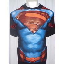 Playera Dc Comics Superman Man Of Steel!! Daa