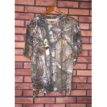 Playera Camo Manga Corta Marca Game Winner Realtree Xtm