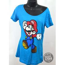 Super Mario Bros Playera De Dama Importada 100% Original