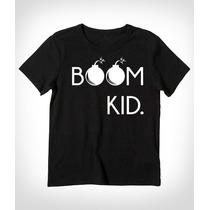 Playera Niño Personalizada Con Diseño Boom Kid Varias Tallas