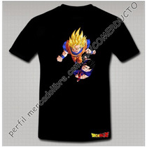 Playera Dragon Ball Z Playera Goku Sayayin Y Gohan Tniw