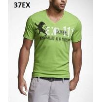 L - Playera Express Verde Ropa De Hombre 100% Original