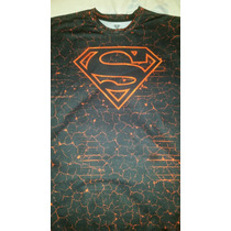 Playera Superman, Original Dc Importada, Lycra Fit