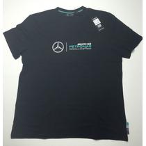 Remate Playera Oficial Mercedes Amg Petronas Para Hombre