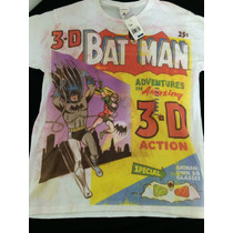 Playera Batman Comic Retro Hipster Original Importada Remate