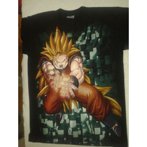 Playera Anime Dragon Ball Goku Mediana Freezer Resi Al Lavad