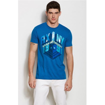 Playera Armani Exchange Slim Fit 3d Graphic Logo Tee Talla M