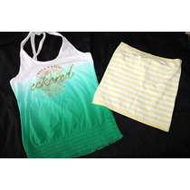 Eckored Benetton Lote De 2 Tops Talla Chica Halter Y Straple