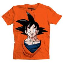 Playera Mascara De Latex Mod: Goku