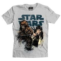 Playeras Star Wars Han And Chewie De Mascara De Latex
