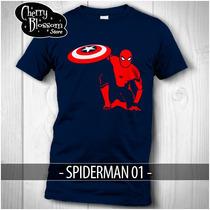 Playeras Spiderman Civil War Avengers Captain Stark Spidey
