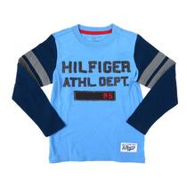 Playera Tommy Hilfiger Talla S Azul Niño Juvenil Casual