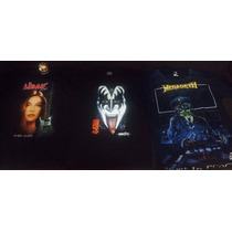 Playeras Rock Kiss, Megadeth, Liran, Interpuesto, Pantera