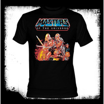Camiseta He-man Masters Of The Universe Transformers Tmnt