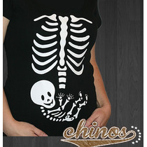 Playera Maternidad, Baby Shower, Divertida, Dia De Muertos
