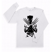 Playera Wolverine Xavier´s School X-men Manga Larga