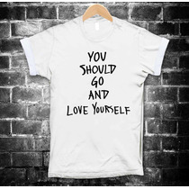 Justin Bieber Playeras You Should Go And Love Yourself