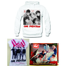 Paquete One Direction Sudadera Cojin Y Playera