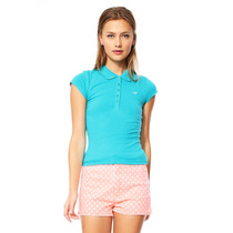 Pink Connection - Playera Teal Tipo Polo - Verde - 3000