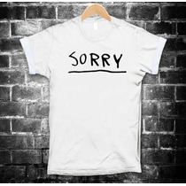 Justin Bieber Playeras Sorry Camiseta Purpose Tallas Hombre