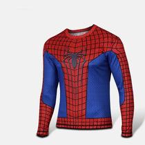 Playera Deportiva Spiderman Super Heroes Licra Envio Gratis