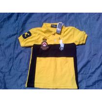 Playera Polo Ralph Lauren Para Niño Talla 6 Color Amarillo