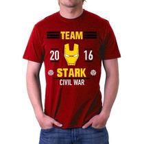 Playeras Civil War Capitan America Iron Man Batman Superman