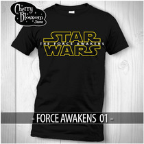 Playeras Starwars Force Awakens Darth Vader Boba Fett
