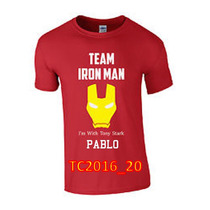 Playera Team Iron Man Capitán America Personalizada Cr2016_2