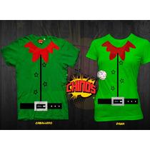 Playeras Para Navidad, Duende, Santa Claus, Fin De Año, Grac