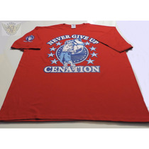 John Cena Playera Roja Never Give Up Talla Xxl Wwe Danbr68
