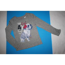 ~the Childresn Place Blusa Gris Con Cara Perrito T 6 8