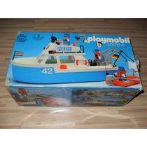 Klicky Playmobil System 3539 Yate Policia Lancha Vintage