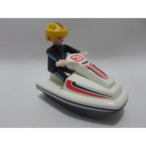 Playmobil Vintage Jet Ski Set 3326 Marca Geobra Del Año 2002