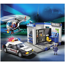 Playmobil 5607 Set De Policia Ciudad Retromex!!