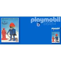 Playmobil Set 3367 Bombero Con Toma De Agua De 1985 Js!!