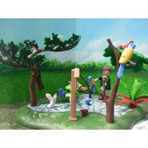Playmobil Cuidador De Pajaros Aves Aviario Ciudad Selva Js
