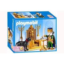 Playmobil Rey Con Trono Y Pantera Medieval Set #4256